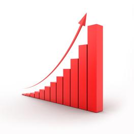Grafico in crescita