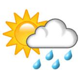 nuvola di pioggia con il sole